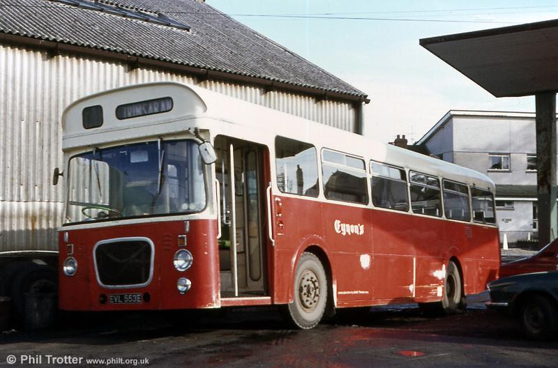 Eynon's, Trimsaran, ex-Lincoln (no.45) 1967 Leyland Panther PSUR1/Roe B49F EVL 553E.