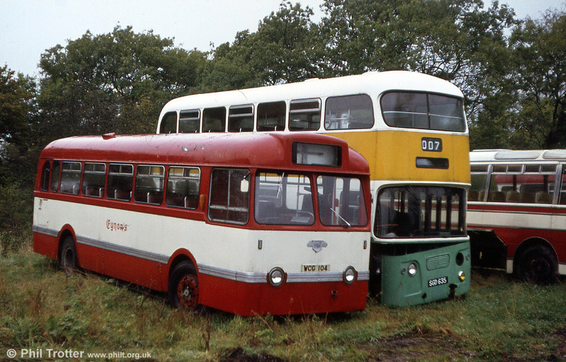 One that got away! Eynon's Tiger Cub/Weymann B44F WCG 104, formerly Hants & Dorset 2704 and nowadays preserved by the Friends of King Alfred Buses.