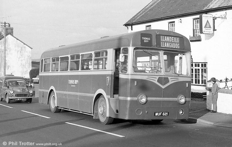 Thomas Bros., Llangadog had this former 1954 Southdown Leyland Tiger Cub/Nudd Bros. B39F MUF 621.