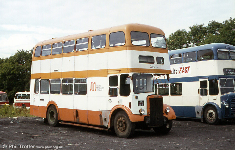 Eynon's ex-Salford and Greater Manchester PD2/Metro Cammell H36/28F JRJ 261E.
