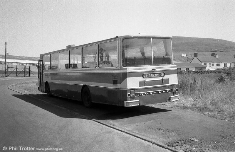 A rear view of Richards, Brynmawr AEC/UTIC C53F OAG 214L.