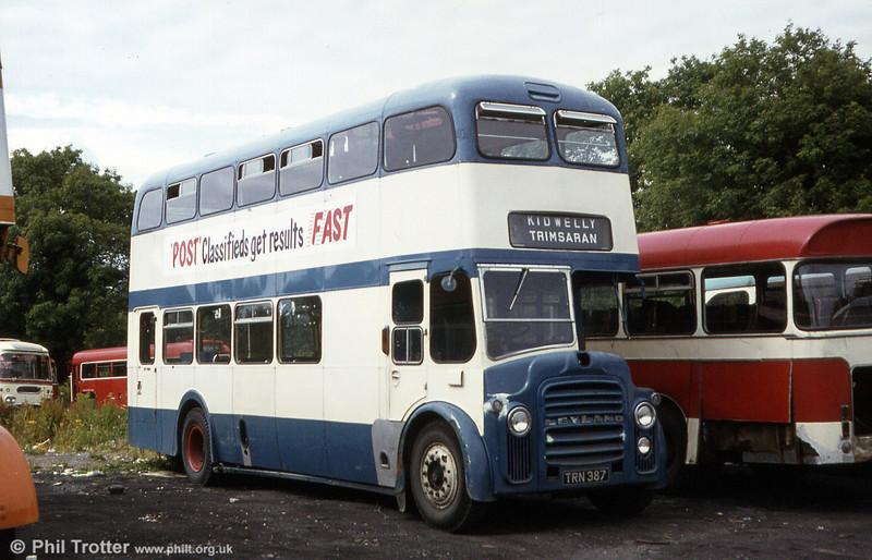 Eynon's ex-Preston PD3/MCW H39/31F TRN 387.