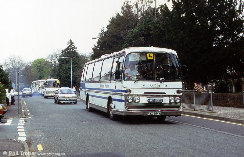 Blueline's PWX 564K was a Ford R226/Plaxton C53F new to Dodsworth, Minskip.