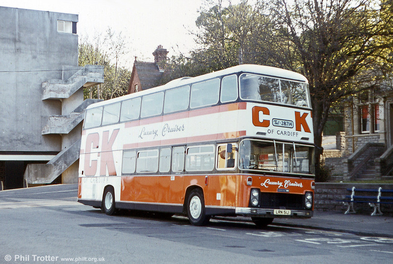 CK had this 1971 former Standerwick Bristol VRLLH6L with ECW CH42/18Ct, LRN 51J which it used briefly on a short lived Cardiff to Swansea service. It was photographed at Penarth.