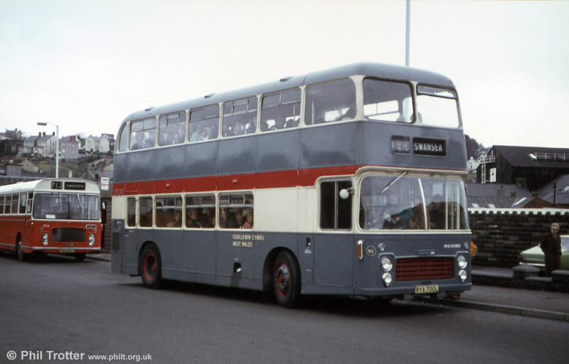 West Wales Motors, Tycroes, acquired this 1973 Bristol VRT/ECW H39/31F, RYA 700L, in 1979. Originally, the bus was owned by Hutchings & Cornelius, South Petherton.