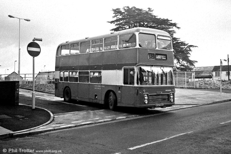 West Wales Motors Bristol VRT/ECW H39/31F 82 (RYA 700L) leaving Ammanford Bus Station.