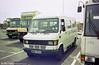 Brian Isaacs Mercedes minibus MBB404X at Swansea on a service to Neath.