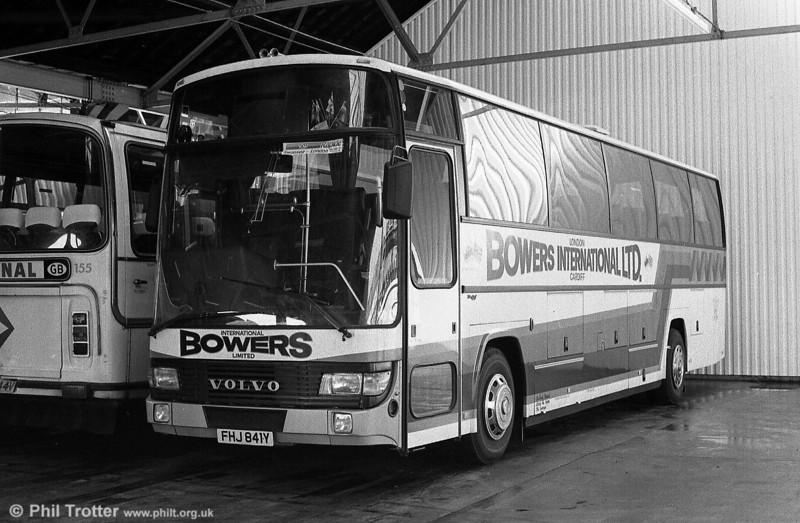 Bowers, Bridgend had this Volvo B10M with Berkhof C49F bodywork, FHJ 841Y.