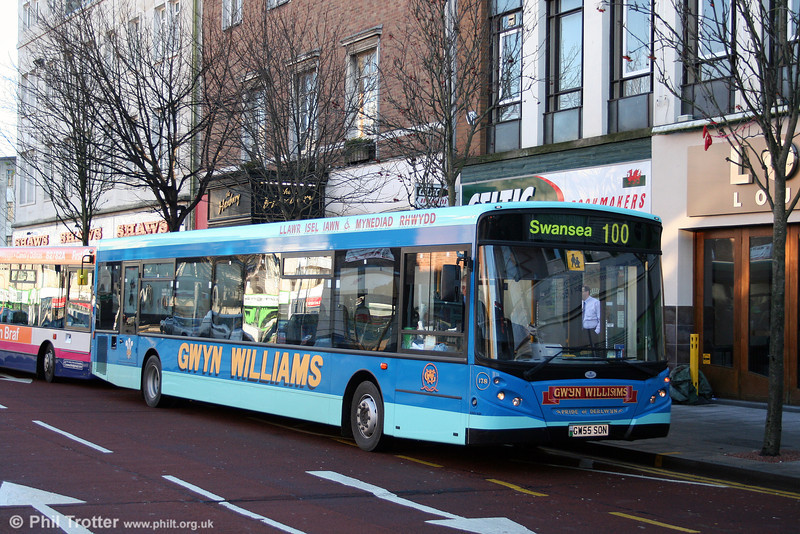 Williams, Tumble operates this Alexander Dennis Enviro 300/B60F. It is seen in Swansea on 6th December 2008.