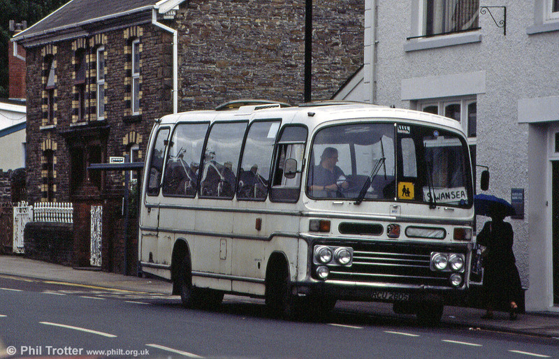 Jervis, Port Talbot ran this Bedford VAS/Plaxton C29F, RCU 280S which was new to Priory, North Shields.