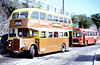 Rhymney Valley 36 (LNY 536D), a 1966 Leyland PD2/Massey L31/29RD seen in the company of a Red & White Bristol RESL6L at Pontypridd.