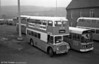 AEC Regent V/Metro Cammell H34/26F no. 4 (NNY 761E) and a new fangled interloper in the form of Leyland National 2/B49F 33 (FUH 33V) at the depot.