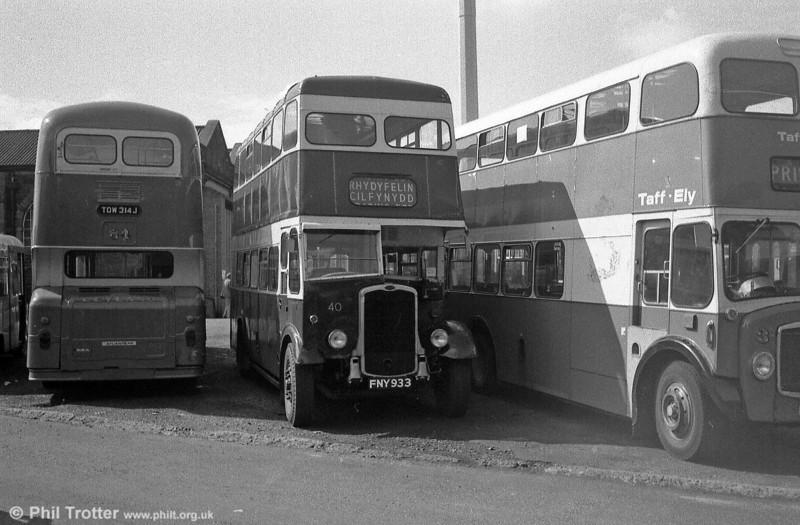 Former Pontypridd UDC Bristol K6A/Park Royal H30/26R 40 (FNY 933). The bus dates from 1943.
