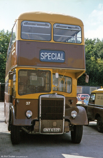 RVDC 37 (ONY 637F), a 1967 Leyland PD2/Massey H37/27F, which was formerly a Caerphilly vehicle.