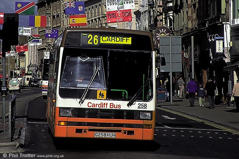 Cardiff 258 (G258 HUH) was a 1990 Leyland Lynx/B49F.