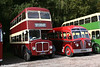 Cardiff AEC Regent V 2D3RA/East Lancs H35/28R 408 (408 DBO) in the company of KDD 38, a 1950 Regal III with Harrington full-front bodywork. Dean Forest Railway, 9th October 2005.