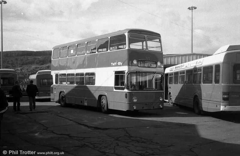 Taff-Ely 82 (TTR 163H) was a Leyland Atlantean/East Lancs H45/31F obtained from Southampton City Transport (129) in 1982.