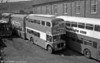 Shown at the depot shortly after a repaint is Taff-Ely AEC Regent V/Metro-Cammell H34/26F 2 (NNY 759E).