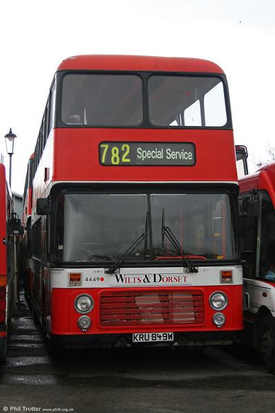 Wilts & Dorset 1980 Bristol VRT/ECW H43/31F 4449 (KRU 849W) at Lymington on 18th February 2006.