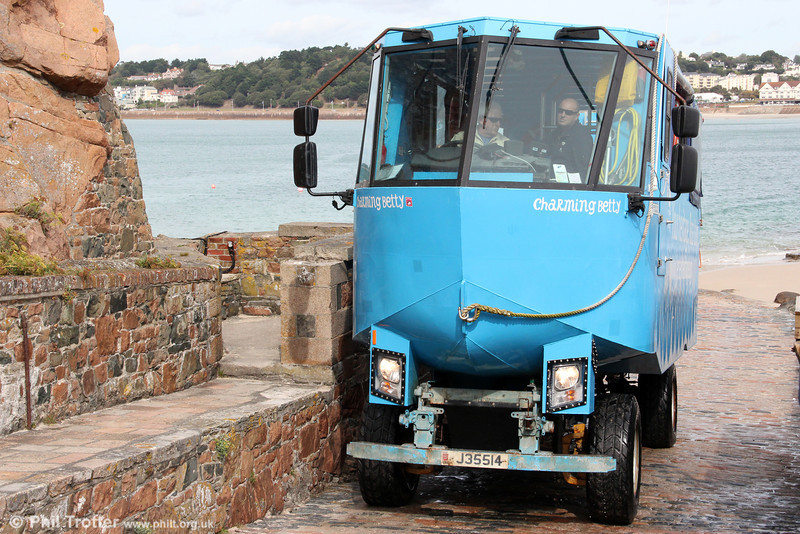 Amphibious bus J35514 at Elizabeth Island, Jersey on 22nd September 2012.