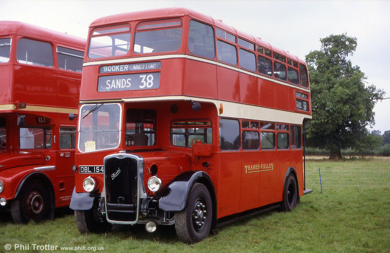 The nicely restored Thames Valley 446 (DBL 154) a 1945 Bristol K6A/ECW L55R pictured at the Mid Hants Railway's Rally at Alton in 2002.