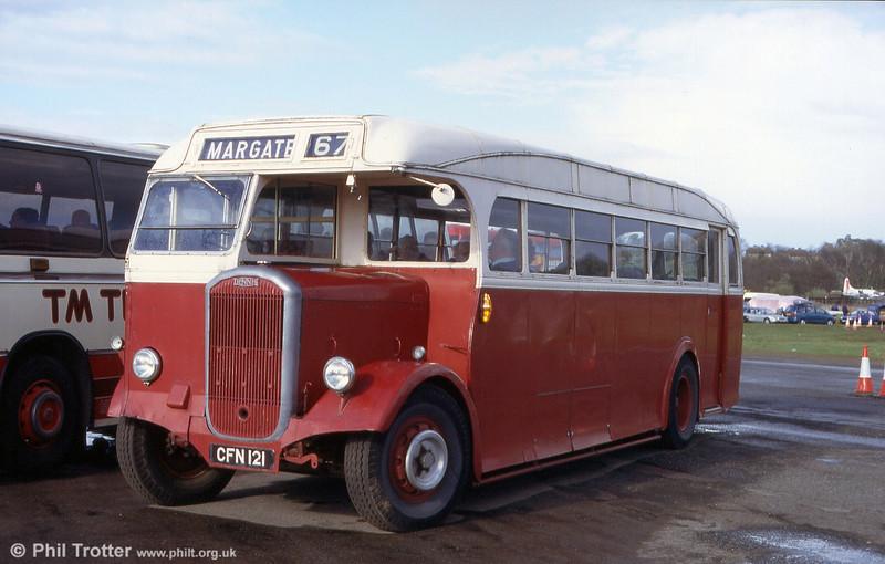 East Kent CFN 121 - a 1949 Park Royal B35R bodied Dennis Lancet J3 seen at Cobham in 1999.