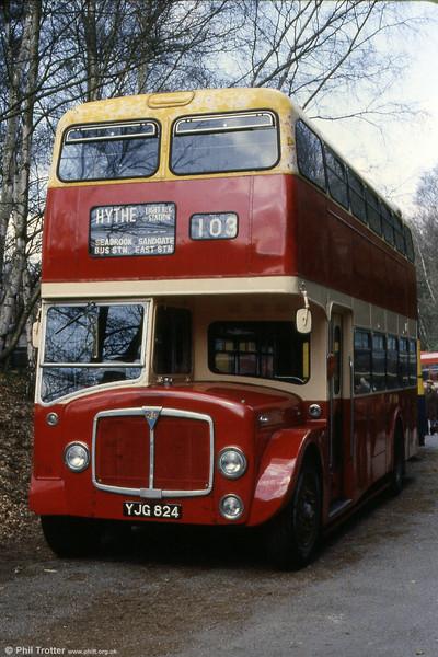East Kent 1962 AEC Regent V/Park Royal H40/32F YJG 824.