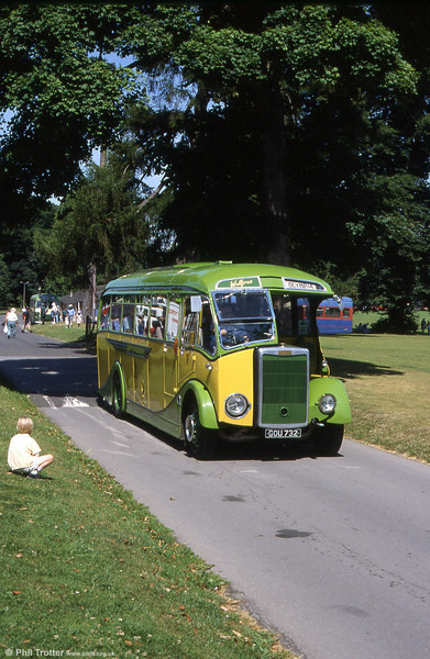 GOU 732 is a wonderful and rare example of a 1949 Tilling-Stevens K6LA7 with Scottish Aviation C33F body delivered new to Altonian Coaches. Seen at the Mid Hants Rally, Alton in 1999.