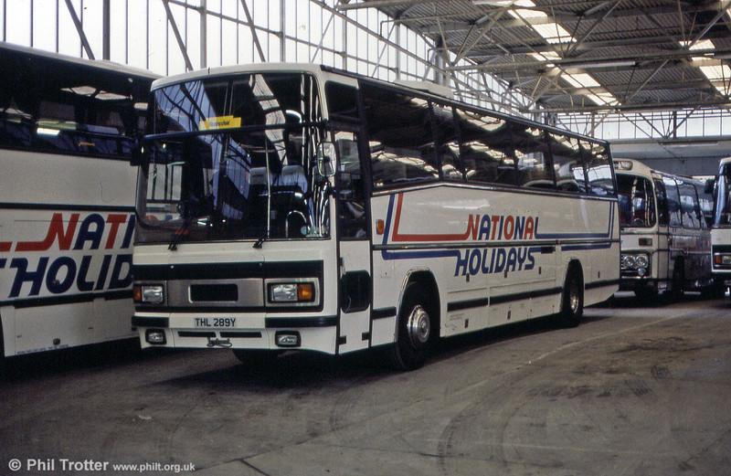 National Travel (East) THL 289Y, a 1983 Leyland Tiger/Plaxton C50F.