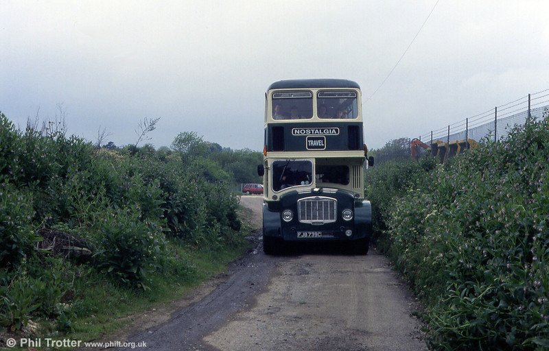 Thames Valley Bristol FLF6G D55 (FJB 739C) at Oxford bus Museum in 1993. The bus was renumbered 655 in Alder Valley days.