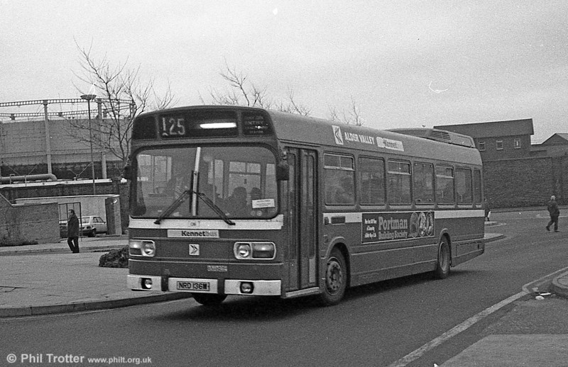 Alder Valley Leyland National B49F 136 (NRD 136M) on hire to SWT at Swansea.