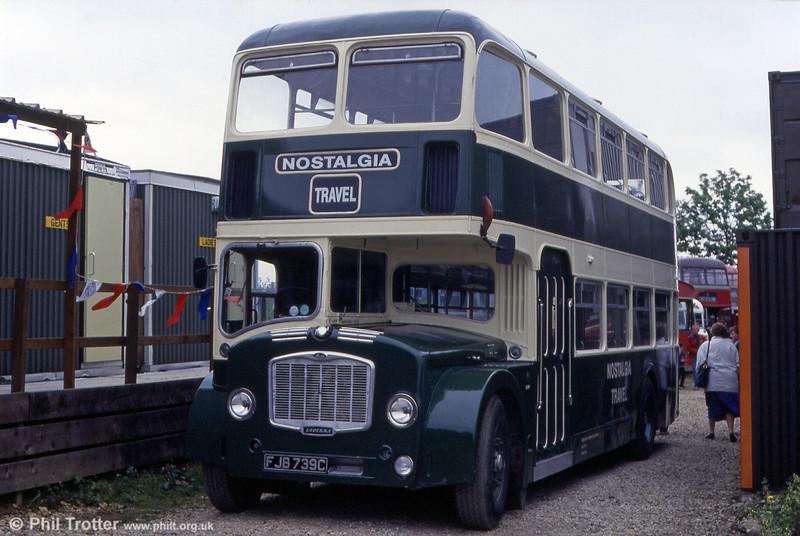 Former Thames Valley D55 (FJB 739C) a 1965 Bristol FLF6G/ECW H38/32F in 1993.