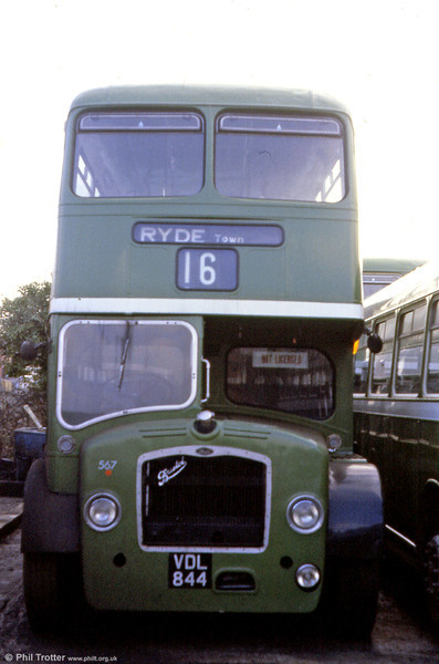 Southern Vectis 1961 Bristol FS6G/ECW H33/27RD 567 (VDL 844) parked up at Ryde.