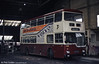 Reading 108 (ORD 108R) was a 1977 MCW Metropolitan H45/28D which remained in the fleet until October 1989. It was photographed at Mill Lane depot in March 1984.