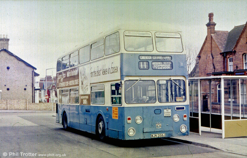 Southend 358 (WJN 358J), a 1971 Daimler Fleetline/Northern Counties H49/31D.
