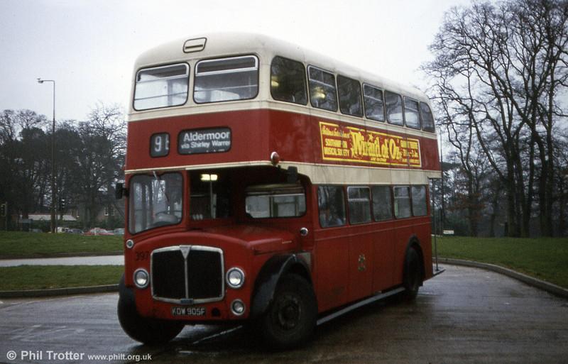Southampton AEC Regent V 397 (KOW 905F).