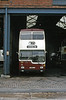 Reading 421 (OUC 155R), a 1977 Scania Metropolitan/MCW H43/29D, which was new to London Transport as MD155.