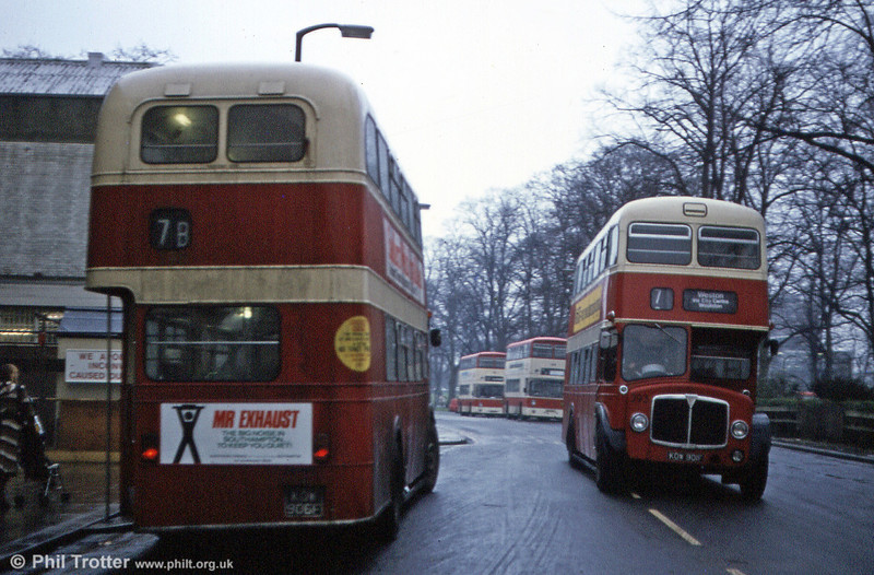 AEC Regent Vs 398 (KOW 906F) and 393 (KOW 901F) pass.