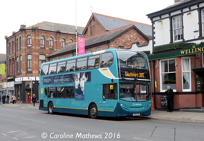 Arriva 4581 (YX64VPW), Eastbank Street, Southport, 19th March 2016