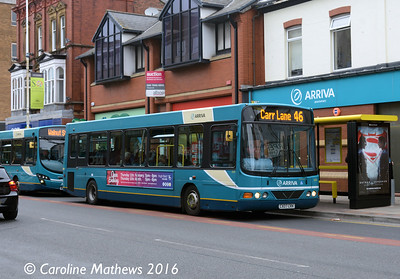 Arriva 2633 (CX07CRK), Eastbank Street, Southport, 19th March 2016