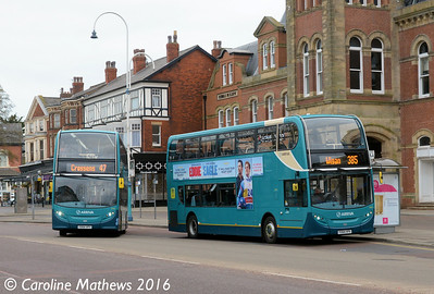 Arriva 4580 (YX64VPV) and 4582 (YX64VPY), Lord Street, Southport, 19th March 2016