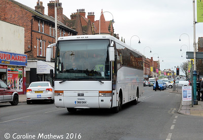 Wyre Coaches 366EKH, Eastbank Street, Southport, 19th March 2016