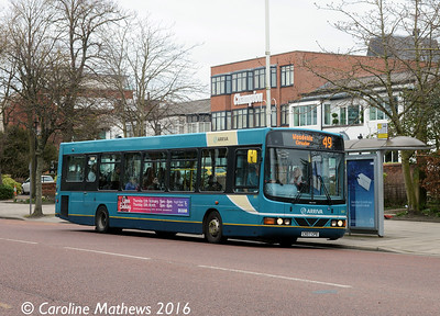Arriva 2622 (CX07CPE), Lord Street, Southport, 19th March 2016
