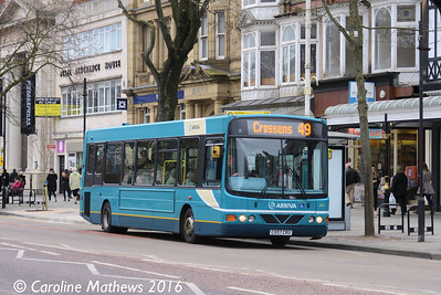 Arriva 2634 (CX07CPU), Lord Street, Southport, 19th March 2016