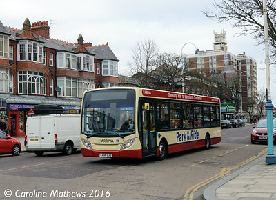 Arriva 2144 (CX08DJU), Lord Street, Southport, 19th March 2016