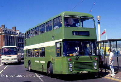 Southern National 601 (LWG844P), a Bristol VRT/ECW which originated with Yorkshire Traction in Weymouth
