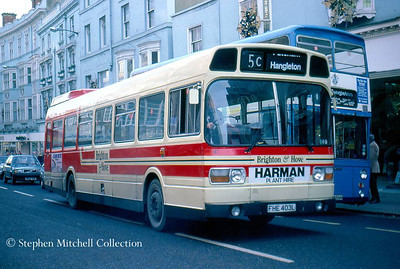 Another ex Yorkshire Traction Leyland National in the Brighton & Hove fleet was 147 (FHE403L).