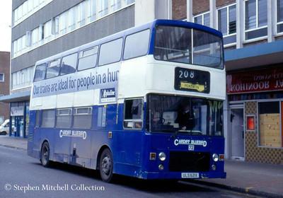 Cardiff Bluebird MCW Metrobus/Alexander 72 (ULS621X), originally Alexander (Midland) MRM21.