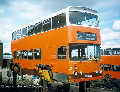 Your Bus DD43 (CWG703V) in an elevated position, was an Alexander bodied Leyland Atlantean, originally South Yorkshire PTE 1703.