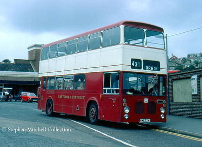 Hastings & District 771 (OWE271K), an East Lancs bodied Bristol VRT which was originally Sheffield Transport 271 and is now preserved.